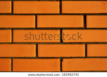 Closeup of brick wall. Texture.