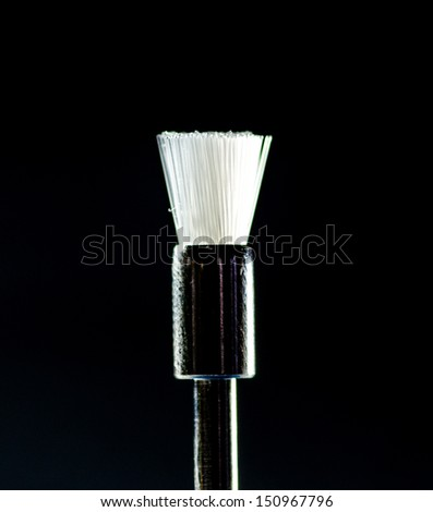 Closeup of britle brush - dental equipment - stock photo