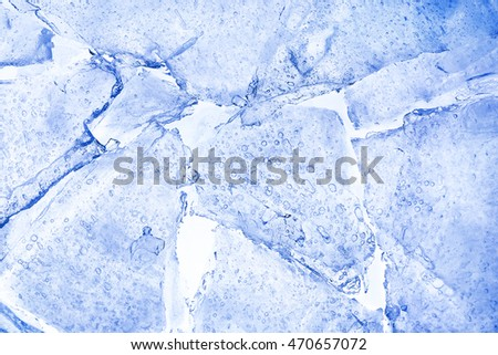 closeup of broken ice for background use