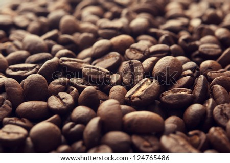 closeup of brown coffee background - stock photo