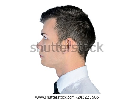 Closeup of business man head - stock photo