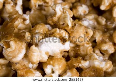 Closeup of Caramel Corn. - stock photo
