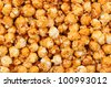 Closeup of Caramel Corn Fills the Frame - stock photo