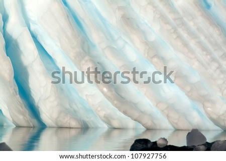 Closeup of Carved Antarctic Iceberg - stock photo