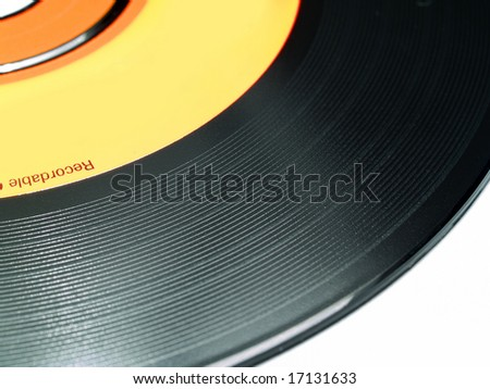 closeup of CDR disk. surface is like old fashion vinyl record.