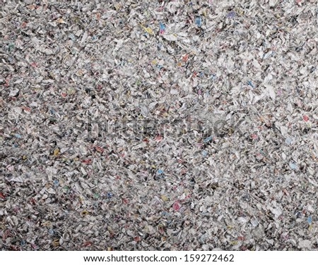 Closeup of cellulose insulation batt panel, made of recycled newspapers, used as building thermal insulation. - stock photo