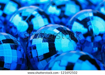 closeup of christmas balls background - stock photo