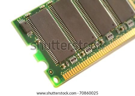 closeup of computer ram - stock photo
