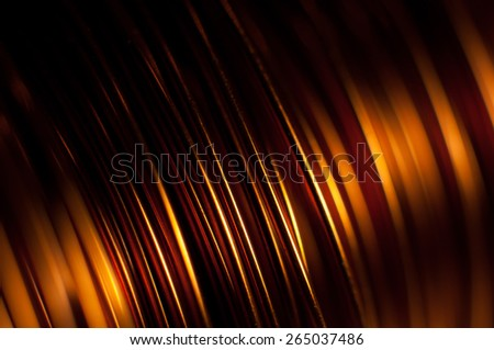 Closeup of copper coil wiring - stock photo