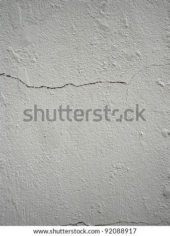 Closeup of cracks in wall - stock photo