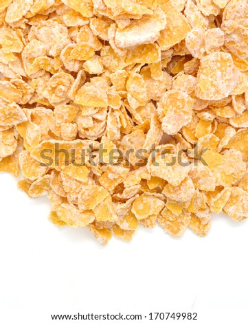 closeup of delicious cereals on a white background  - stock photo
