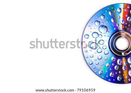 Closeup of drops of water on a multicolored surface - stock photo