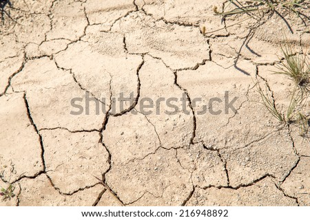 CLoseup of dry soil - stock photo