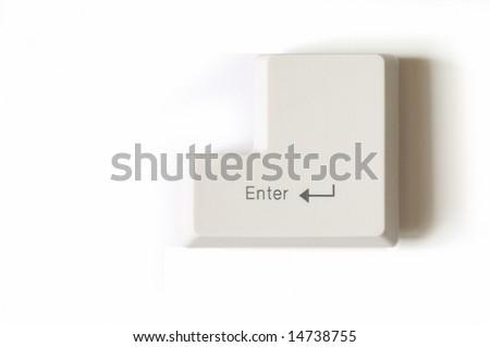 Closeup of enter key - stock photo