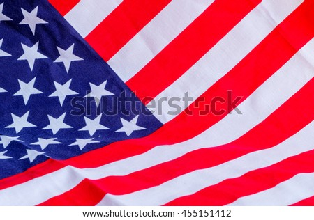 Closeup of Flag America.