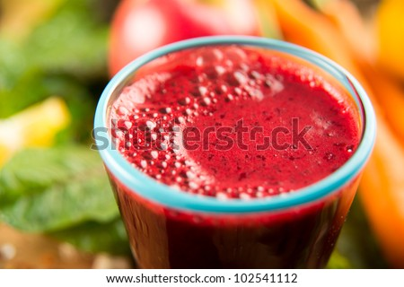 Closeup of Fresh Red Beet Juice - stock photo