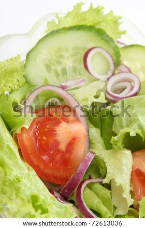 closeup of fresh salad, healthy food - stock photo