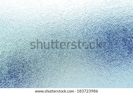 Closeup of frosted glass texture - stock photo
