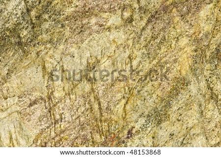 Closeup of Greenish yellow slate stone - stock photo