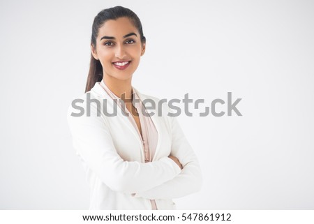 Closeup of Happy Pretty Indian Business Woman
