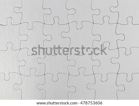 Closeup of jigsaw puzzle pattern