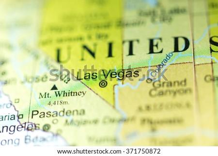 Closeup Las Vegas Nevada On Political Stock Photo - Nevada usa map
