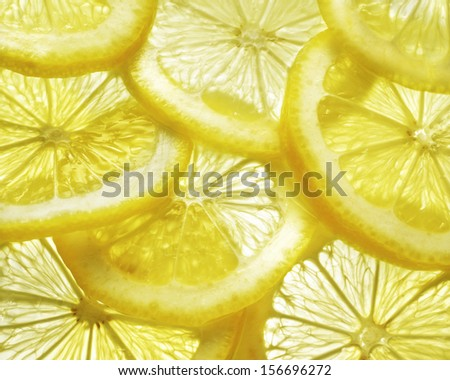 closeup of lemon slice - stock photo