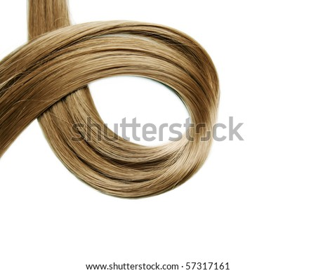 Closeup of long human hair - stock photo