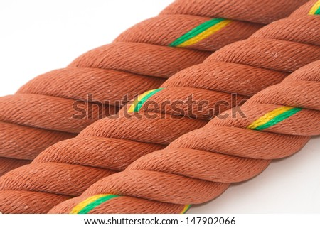 Closeup of Manila Nylon Ropes use for background - stock photo