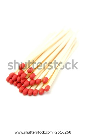 Closeup of matches (hi-key)