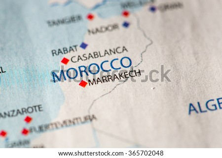 Closeup morocco on political map africa stock photo royalty free closeup of morocco on a political map of africa ccuart Gallery