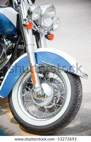 Closeup of motor cycle - stock photo
