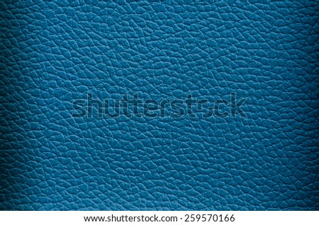 Closeup of Natural deep blue leather texture  - stock photo
