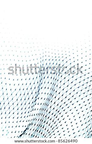 Closeup of netting on white - stock photo