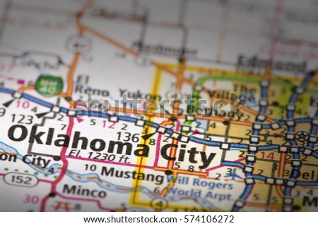Oklahoma Road Map Stock Images RoyaltyFree Images Vectors - Oklahoma road map