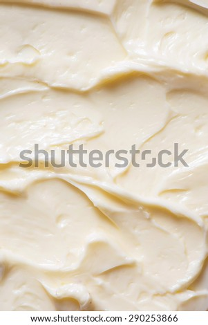 closeup of opened yellow butter - stock photo