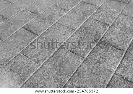closeup of pictures, gray cement brick  - stock photo