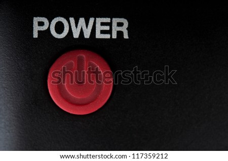 closeup of power button on background - stock photo