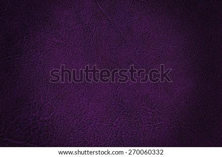 Closeup of purple leather texture - stock photo