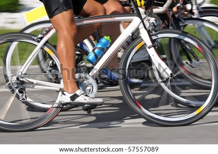 Closeup of racing bicycle