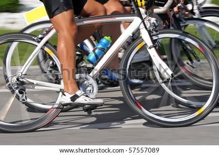 Closeup of racing bicycle - stock photo