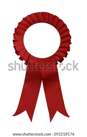 closeup of red  ribbon - stock photo