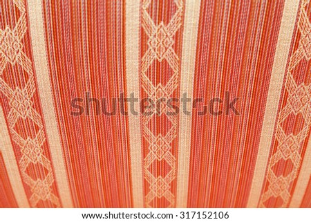 Closeup of retro pattern texture with selective focus - stock photo