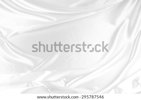 Closeup of rippled satin silk fabric - stock photo