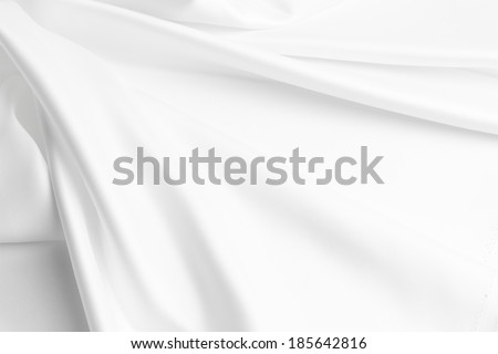 Closeup of rippled silk fabric - stock photo