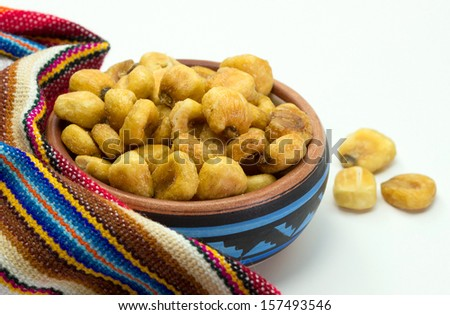 Closeup of roasted corn snack - stock photo