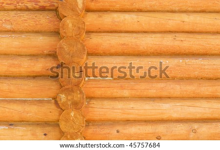 Closeup of rustic house wooden wall - stock photo