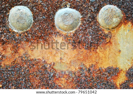 Closeup of rusty metal is old and dirty - stock photo