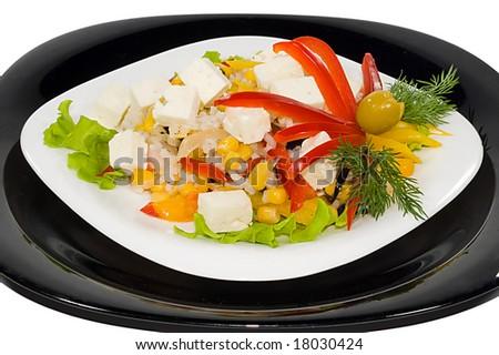 closeup of salad - stock photo