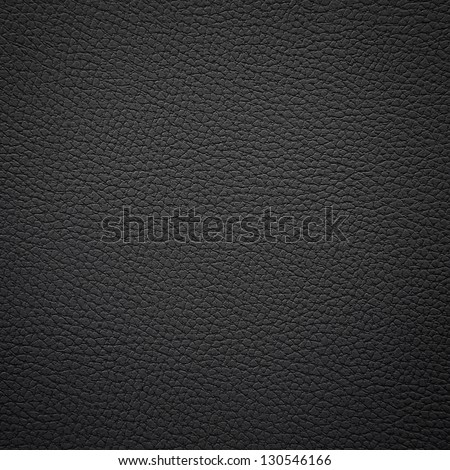 Closeup of seamless black leather texture - stock photo